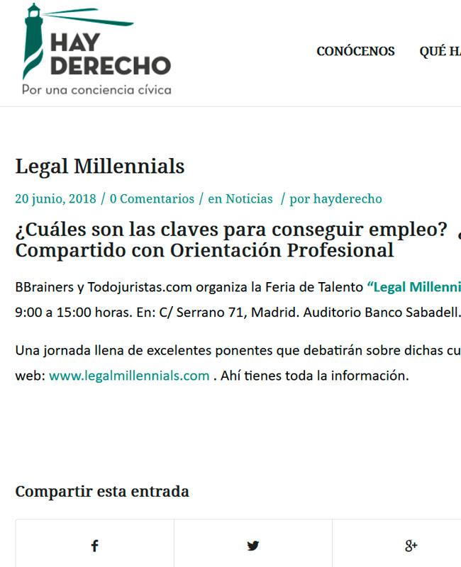 Hay Derecho Legal Millennials