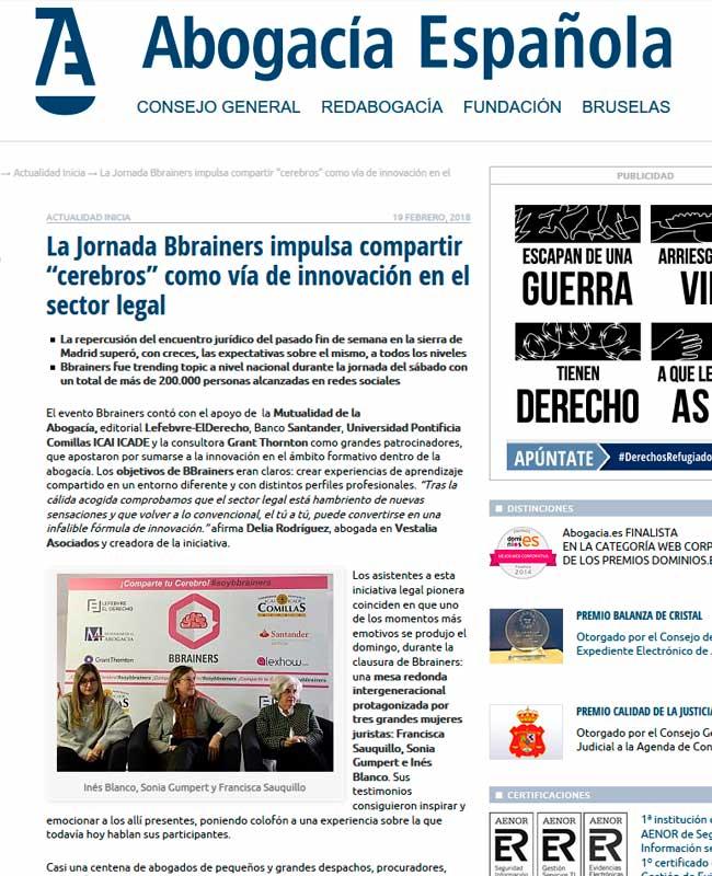 Abogacía Española mencion de prensa