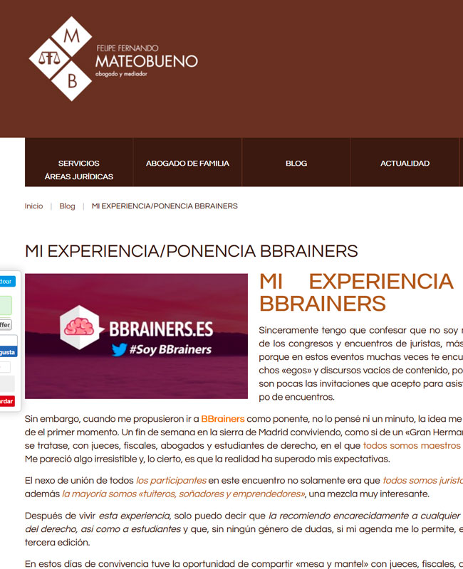 Opinion Mateo Bueno Ponente II Edición BBrainers 2018